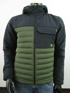 NWT Mens M Mountain Hardwear Stretchdown HD Hooded Insulated Jacket NWT - Green | eBay