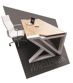 Desks - IndustrialReclaim.com Welded Furniture, Modern Wood Furniture, Folding Furniture, Steel Furniture, Unique Furniture, Diy Furniture, Office Table Design, Office Furniture Design, Home Office Design