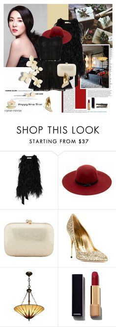 """""""Happy New Year 2016"""" by rainie-minnie ❤ liked on Polyvore featuring F, Elizabeth and James, Maison Scotch, Serpui, Sebastian Milano, Chanel and Bobbi Brown Cosmetics"""