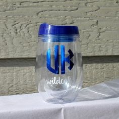 C-A-T-S CATS CATS CATS!!  Do you have University of Kentucky school spirit? Love convenience? Love glassware thats portable and durable!? Well today is your lucky day! The Bev2Go stemless wine acrylic tumbler is perfect for taking to the lake, cookouts, the beach, tailgating, the pool or anywhere you need to take your beloved beverage. Order here: https://www.etsy.com/listing/450653196/uk-wildcats-monogram-tailgating-wine?ref=shop_home_active_18