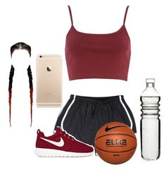 """""""Basketball night with girls"""" by fashionpolice1994 ❤ liked on Polyvore featuring NIKE and Dot & Bo"""