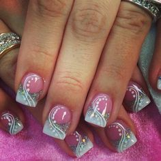 Acrylic nails design Nail art ideas funky style - Make up Fingernail Designs, Cute Nail Designs, Acrylic Nail Designs, Acrylic Nails, Fabulous Nails, Gorgeous Nails, Pretty Nails, Hot Nails, Pink Nails
