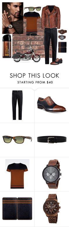 Street style by elza76 on Polyvore featuring Armani Jeans, Maison Kitsuné, Mezlan, Akribos XXIV, Rip Curl, Ray-Ban, Würkin Stiffs, Orciani, Harley-Davidson and men's fashion