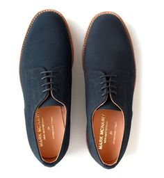 blue swede shoes...