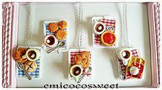 Cute Food Fun Kitsch Novelty Gift Bakery Necklaces,Cute Kawaii Food jewellery