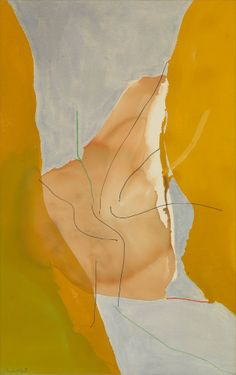 Helen Frankenthaler, Barbizon, 1971, Acrylic, marker, and crayon on canvas, 62 3/4 × 39 1/2 inches