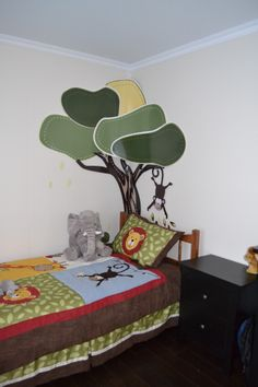 Chambre enfants on pinterest decorations bedside tables - Stickers jungle chambre bebe ...