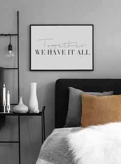 """""""Together, We Have it All"""" Family Print, Quote Prints, Family Sign, Together We Have it All Print, Typography Print, Large Wall Art, Word Prints, Black and White Print #homeinspo #homedecor #homedecorideas #wallart  #art #print #digital #typographyprint #typographyposter #quoteprints #wordart #wordprints #typographywallart"""