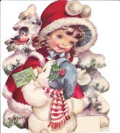 ImagiMeri's: Even more Christmas graphics! Cute Christmas Cards, Christmas Topper, Vintage Christmas Images, Christmas Scenes, Christmas Music, Christmas Deco, Vintage Holiday, Christmas Pictures, Christmas Greetings