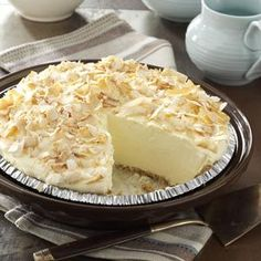 No-Cook Coconut Pie Recipe from Taste of Home -- shared by Jeanette Fuehring of Concordia, Missouri