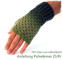 crochet pattern wristwarmer in german