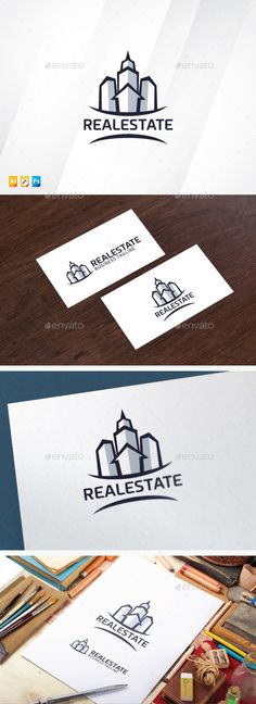 Modern Real Estate Logo Design Template Vector #logotype Download it here:  http://graphicriver.net/item/modern-real-estate/12931640?s_rank=1188?ref=nexion