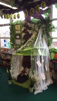 Reading corner Hijab 7 rules of hijab Reading Garden Classroom, Eyfs Classroom, Classroom Themes, Reading Den, Reading Themes, Reading Areas, School Displays, Classroom Displays, Classroom Organisation