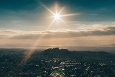 Sunset over the Athens #5 by Walking Blonde on Creative Market