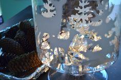 DIY Winter Glass Candle Holder-createandbabble.com