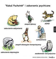 Kubuś Puchatek i zaburzenia psychiczne (podobno nie ma ludzi zdrowych, są tylko niezdjagnozowani)