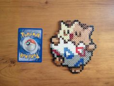 Togepi Pokemon Perler Bead Sprite by PokePerlers on Etsy, $6.00