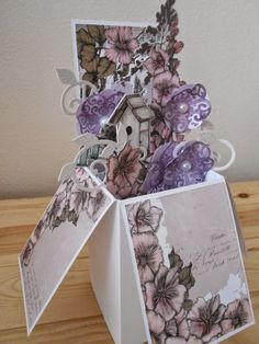 Card designed by Emma Smith using Cottage Garden papers and Pop Up Boxes.
