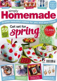 Simply Homemade 28 Flip by Practical Publishing - issuu Cross Stitch Books, Cross Stitch Charts, Stitch Magazine, Sewing Magazines, Magazine Crafts, Knitting Magazine, Book Crafts, Craft Books, Sewing For Beginners