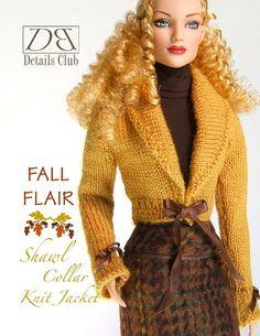 Knitting pattern for 16 doll Tyler Wentworth: di DBDollPatterns