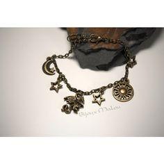 Daenerys Targaryen Inspired Bracelet Charm Bracelet Game of Thrones... ($7.33) ❤ liked on Polyvore featuring jewelry, bracelets, star bangle, charm bracelet, star charm bracelet and star jewelry