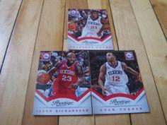 Evan Turner Thaddeus Young Jason Richardson 2013 14 Prestige 76ers 3 Card Lot   eBay