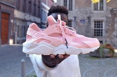 shoes baby pink pink huarache nike dope