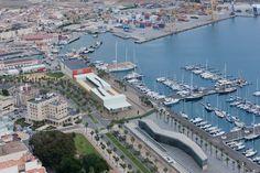 Vistas aéreas de Cartagena (España)