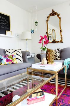 Nesting table hack: http://www.stylemepretty.com/living/2015/02/23/diy-nesting-coffee-table-ikea-hack/ | DIY: Classy Clutter - http://www.classyclutter.net/