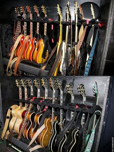 Lenny Kravitz's guitars.