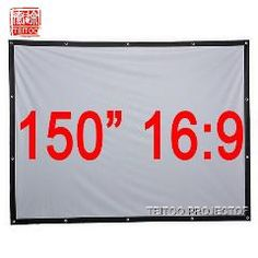 [ 19% OFF ] 150 Inches 16:9 The Silver Projection Screen For A Hd Movie Home Theater Projector, Curtains Pelicula Film Fabric Eletronicos