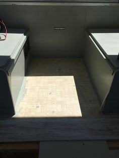 Floor before the new floor installation. Pop Up Trailer, Trailer Remodel, Remodeled Campers, Entryway Tables, Flooring, Furniture, Home Decor, Decoration Home, Room Decor