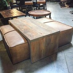 Delicieux Yep, Itu0027s A Coffee Table/leather Ottoman And Itu0027s AMAZING. Www.thefindreno
