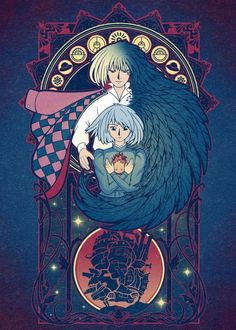 Howl's Moving Castle, Howls Moving Castle Wallpaper, Studio Ghibli Art, Studio Ghibli Movies, Fan Art, Wallpaper Bonitos, Studio Ghibli Background, Howl And Sophie, Studio Ghibli Characters
