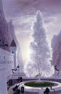 """marsmiims: """" The white tree illustrated by Ted Nasmith. Its pretty ridiculously awesome- just saying. I want his talent… yeah. """""""