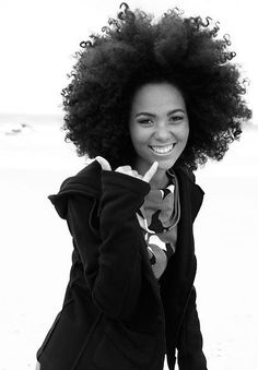 Love her fro!