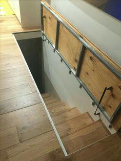 Resultado de imagen para puertas escondidas para escalera