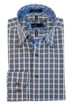 Men's fashions at The Abbey .Plaid Sport Shir... Check it out here http://theabbeycollection.ca/products/plaid-sport-shirt-hidden-button-down-collar-long-sleeve-sotto-sopra?utm_campaign=social_autopilot&utm_source=pin&utm_medium=pin