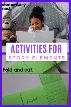 Check out this blog post all about story elements. You can watch the video to learn even more about the three engaging lessons for story element activities. They involve Post-it notes, one piece of paper, and group projects. Story Elements Activities, Fluency Activities, Grammar Activities, Reading Activities, Educational Activities, Teaching Reading, Guided Reading, Learning, 2nd Grade Reading