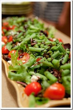 GREEN BEAN SALAD http://pearls-handcuffs-happyhour.blogspot.com/search/label/salads