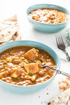 Loaded Vegan Butter Chicken | An easy to make and healthy Meatless Monday weeknight dinner. | theendlessmeal.com