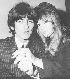 JANUARY 22 1966 Beatle George Harrison And Bride Pattie Boyd Kissing