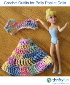 This is a guide about crochet outfits for Polly Pocket dolls. Crocheting clothing for a little girl's doll is a fun craft project.