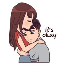 Cute, funny, lovely couple sticker for those who in love – Best of Wallpapers for Andriod and ios