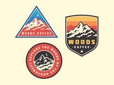 476c4acf Here's a few mountain patches/badges I did for Woods Coffee. At least one
