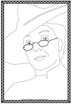Professor McGonagall coloring page