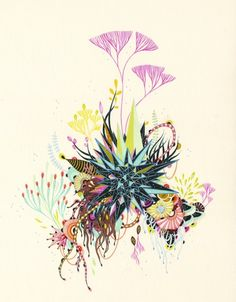 Optically Addicted — Yellena James uses pen and ink to create truly. Nature Illustration, Landscape Illustration, Yellena James, Painting The Roses Red, Alcohol Ink Art, Zen Art, Whimsical Art, Pattern Art, Doodle Art