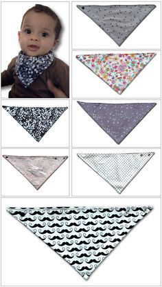 Bavoir-bandana | Camillette Création Sewing Projects For Kids, Sewing For Kids, Sewing Crafts, Couture Bb, Couture Sewing, Sewing To Sell, Creation Couture, Baby Crafts, Baby Quilts
