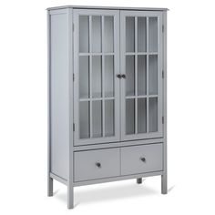 Windham Tall Storage Cabinet with Drawer Gray - Threshold