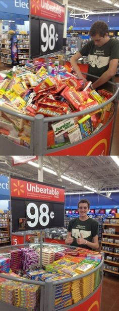 OCD  Love. I can so see my husband doing this:)